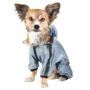 Dog Helios ® 'Torrential Shield' Waterproof Multi-Adjustable Full Bodied Pet Dog Windbreaker Raincoat X-Small Royal Blue