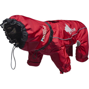 Dog Helios ® Weather-King Ultimate Windproof Full Body Winter Dog Jacket X-Small Red