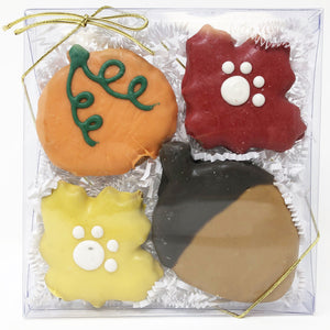 Pet Life 4 Piece Fall Assortment Whole Wheat Oat and Yogurt Dog Biscuit Set