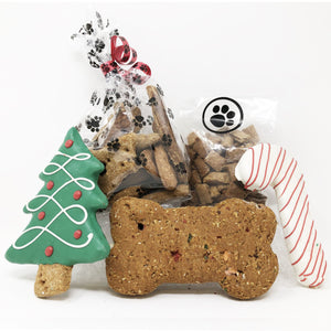 Pet Life 5 Piece Small Christmas Dog Biscuits and Treats Holiday Gift Set