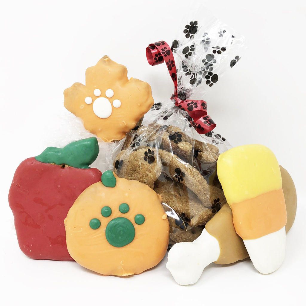 Pet Life 6 Piece 'Happy Thanksgiving' Feast Dog Biscuits and Treats Gift Set