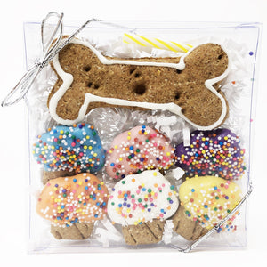 Pet Life 7 Piece Mini Muffin and Bone Whole Wheat Oat and Yogurt Dog Biscuit Set