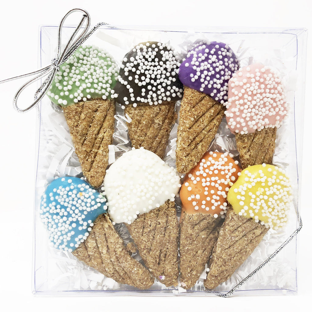 Pet Life 8 Piece Mini Ice Cream Whole Wheat Oat and Yogurt Dog Biscuit Set