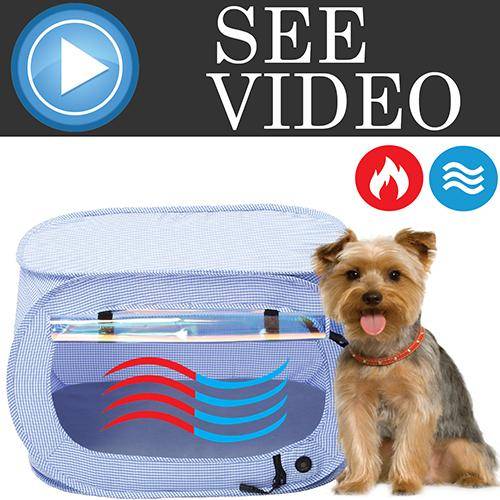 "Pet Life ""Enterlude"" Electric Heating Wire Folding Travel Pet Tent Crate"