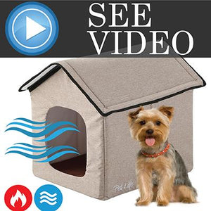 Pet Life 'Hush Puppy' Collapsible Electronic Heating and Cooling Smart Pet House