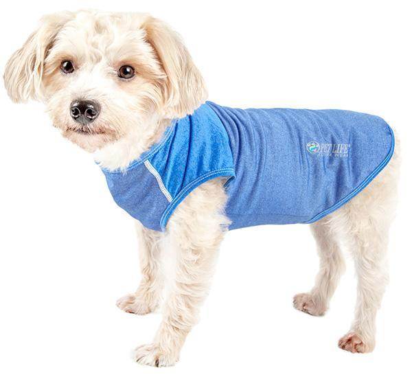 Pet Life ® Active 'Aero-Pawlse' Quick-Dry and 4-Way-Stretch Yoga Fitness Dog T-Shirt Ta...