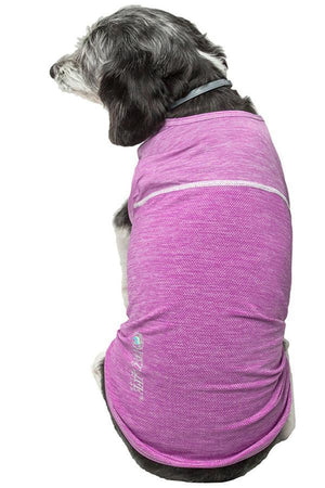Pet Life ®  Active 'Aero-Pawlse' Heathered Quick-Dry And 4-Way Stretch-Performance Dog Tank Top T-Shirt