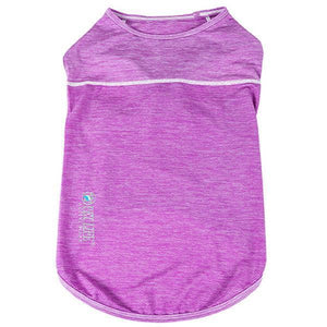 Pet Life ®  Active 'Aero-Pawlse' Heathered Quick-Dry And 4-Way Stretch-Performance Dog Tank Top T-Shirt X-Small Maroon/Purple
