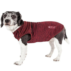 Pet Life ®  Active 'Aero-Pawlse' Heathered Quick-Dry And 4-Way Stretch-Performance Dog Tank Top T-Shirt X-Small Red/Maroon