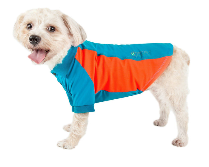 Pet Life ® Active 'Barko Pawlo' Relax-Stretch Quick-Drying Performance Dog Polo T-Shirt