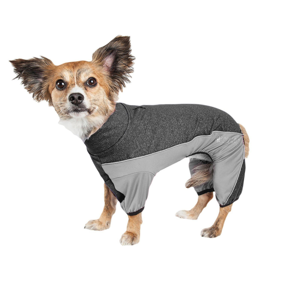 Pet Life ® Active 'Chase Pacer' Medium-weight 4-Way-Stretch Yoga Fitness Dog Tracksuit