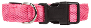 Pet Life ®  'Aero Mesh' Dual-Sided Breathable and Adjustable Thick Mesh Dog Collar Small Pink