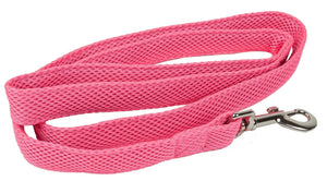 Pet Life ®  'Aero Mesh' Breathable and Adjustable Dual Sided Thick Mesh Dog Leash Pink