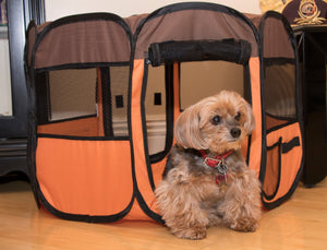 Pet Life ® 'All-Terrain' Lightweight Easy Folding Wire-Framed Collapsible Travel Pet Dog Playpen crate