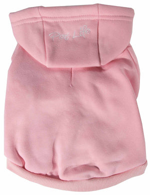 Pet Life ® 'American Classic' Fashion Plush Cotton Hooded Dog Sweater X-Small Pink