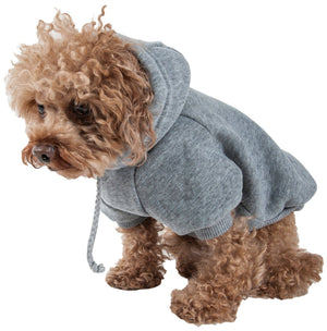 Pet Life ® 'American Classic' Fashion Plush Cotton Hooded Dog Sweater X-Small Grey