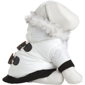 Pet Life ® Aspen Winter-White 3M Insulated Fashion Pet Parka Dog Coat X-Small