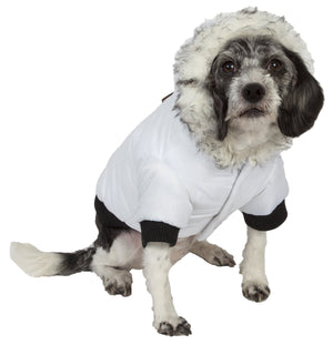 Pet Life ® Aspen Winter-White 3M Insulated Fashion Pet Parka Dog Coat