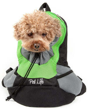 Pet Life ® 'Bark-Pack' Travel On-The-Go Hand's Free Sporty Performance Pet Dog Backpack Carrier
