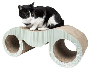 Pet Life ® 'Binocular' Premium Quality Kitty Cat Scratcher Lounger Lounge with Catnip