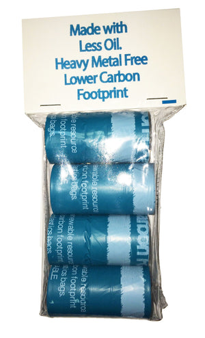 Pet Life ® 'Bio-Hybrid' 100% Recyclable Thermoplastic and Polyethylene Carbon Reduced Eco-Friendly Pet Cat Dog Waste Bags from Renewable Thermoplastic Starch - Dispenser and 2 Pack of Rolls