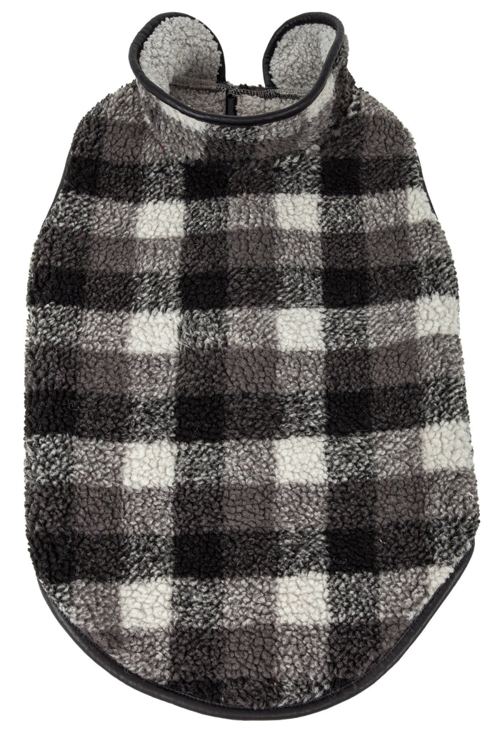 Pet Life ®  'Black Boxer' Classical Fashion Insulated Plaid Dog Coat