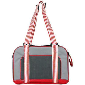 Pet Life ® 'Candy Cane' striped Fashion Designer Travel Pet Dog Carrier Default Title