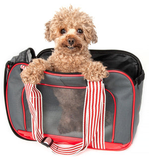 Pet Life ® 'Candy Cane' striped Fashion Designer Travel Pet Dog Carrier
