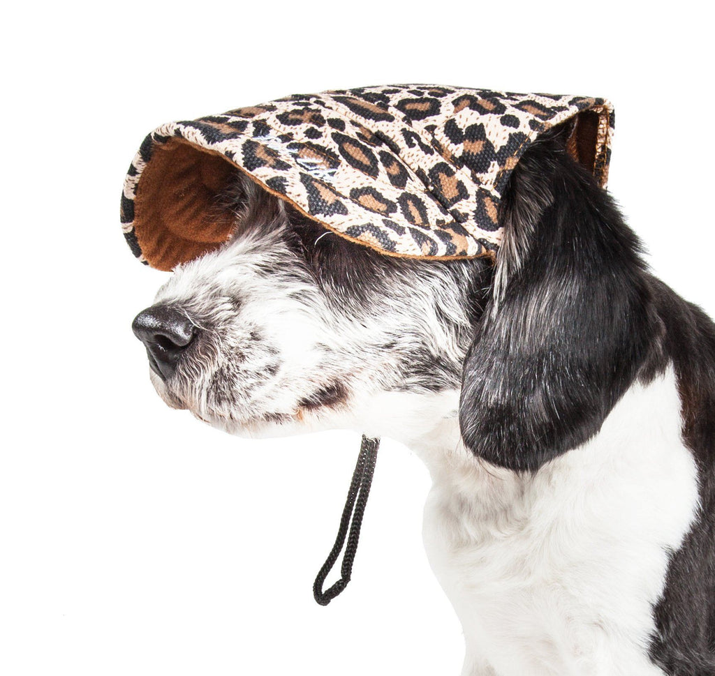 Pet Life ®  'Cheetah Bonita' Cheetah Patterned Uv Protectant Adjustable Fashion Dog Hat...
