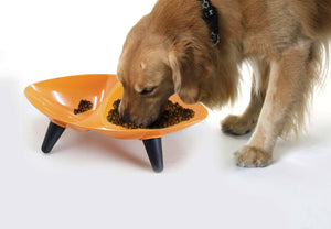 Pet Life ® 'Couture Sculptured' Dishwasher Safe Melamine Food and Water Double Pet Bowl