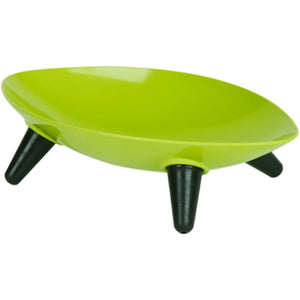 Pet Life ® 'Couture Sculptured' Dishwasher Safe Melamine Pet Bowl Olive Green