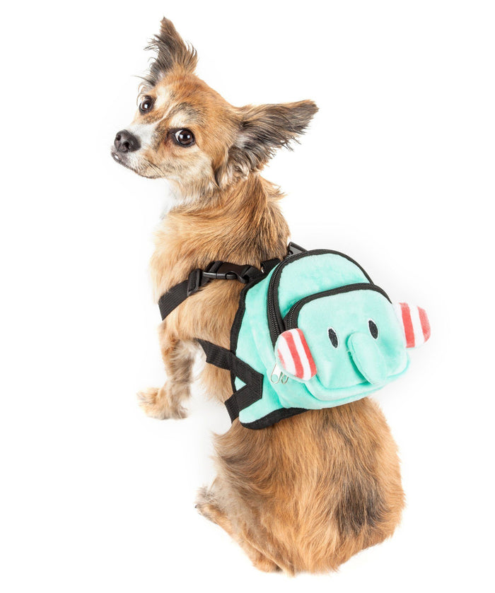 Pet Life ® 'Dumbone' Dual-Pocketed Animated Fashion Dog Harness Backpack