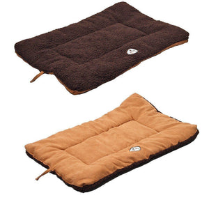Pet Life ® 'Eco-Paw' Reversible Eco-Friendly Recyclabled Polyfill Fashion Designer Pet Dog Bed Mat Lounge Medium Brown And Cocoa