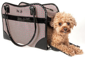 Pet Life ® Exquisite Airline Approved Designer Travel Pet Dog Handbag Carrier