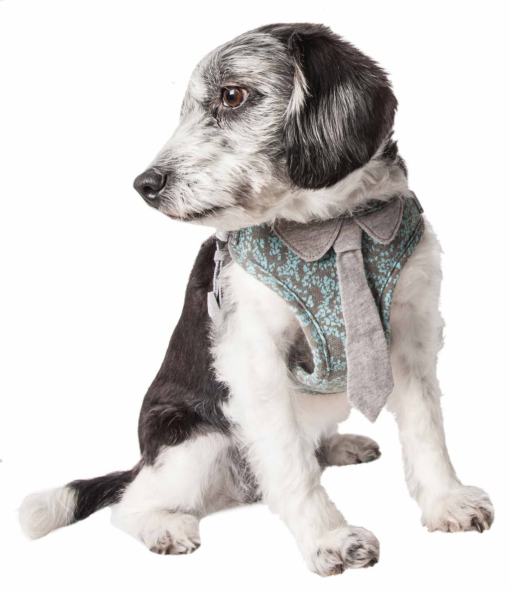 Pet Life ®  'Fidomite' Mesh Reversed and Adjustable Fashion Dog Harness W/ Designer Nec...