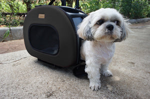 Pet Life ® 'Final Destination' Airline Approved 2-in-1 Tough-Shell Wheeled Collapsible Travel Fashion Pet Dog Carrier Crate