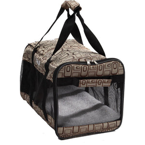 Pet Life ® 'Flightmax' Airline Approved Collapsible Folding Travel Pet Dog Carrier Default Title