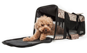 Pet Life ® 'Flightmax' Airline Approved Collapsible Folding Travel Pet Dog Carrier
