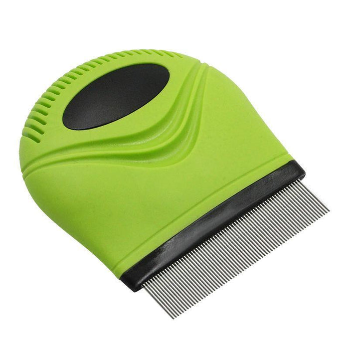 Pet Life ® 'Grazer' Handheld Travel Grooming Cat and Dog Flea and Tick Comb