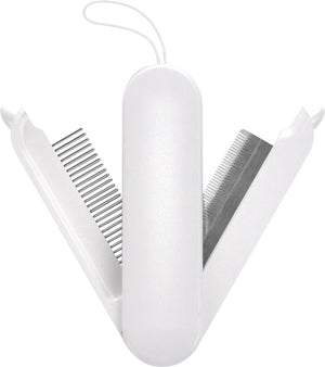 Pet Life ® 'JOYNE' Multi-Functional 2-in-1 Swivel Travel Grooming Comb and Deshedder