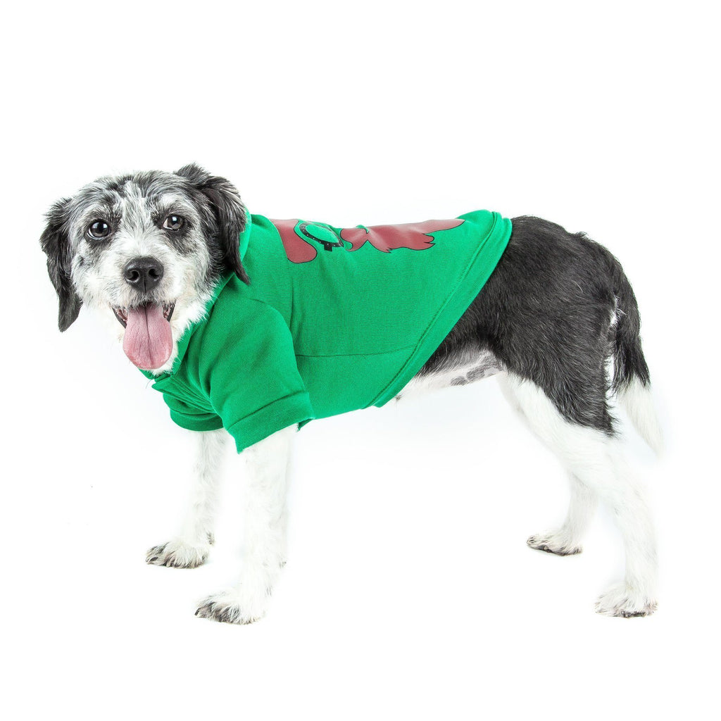 Pet Life ® LED Lighting 'Cool Santa Shades' Hooded Dog Costume Sweater w/ Included Batteries X-Small