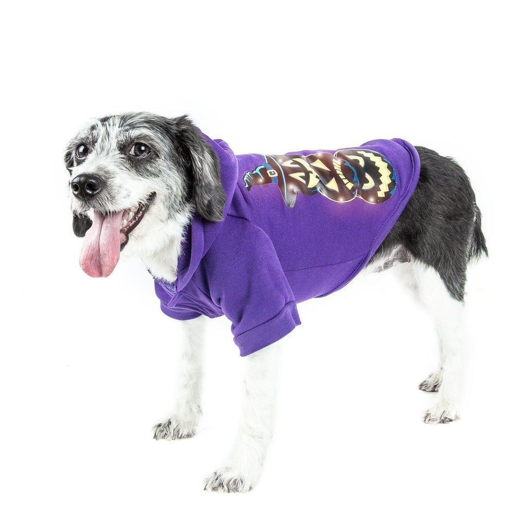 Pet Life ® LED Lighting Halloween Happy Snowman Hooded Dog Costume Sweater w/ Included Batteries X-Small