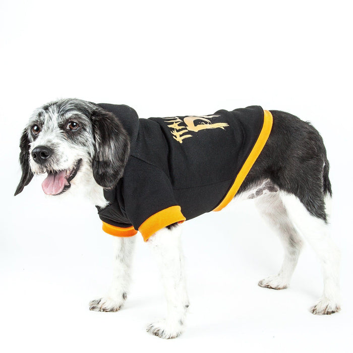 Pet Life ® LED Lighting Halloween Party Hooded Dog Costume Sweater w/ Included Batteries