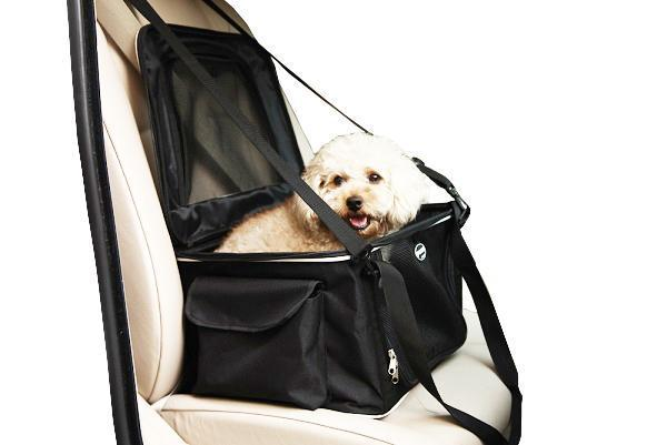 Pet Life ® Lightweight Collapsible Safety Travel Wire Folding Pet Dog Car Seat Carseat ...
