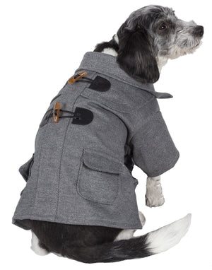 Pet Life ® 'Military Static' Rivited Fashion Collared Wool Dog Jacket Coat X-Small