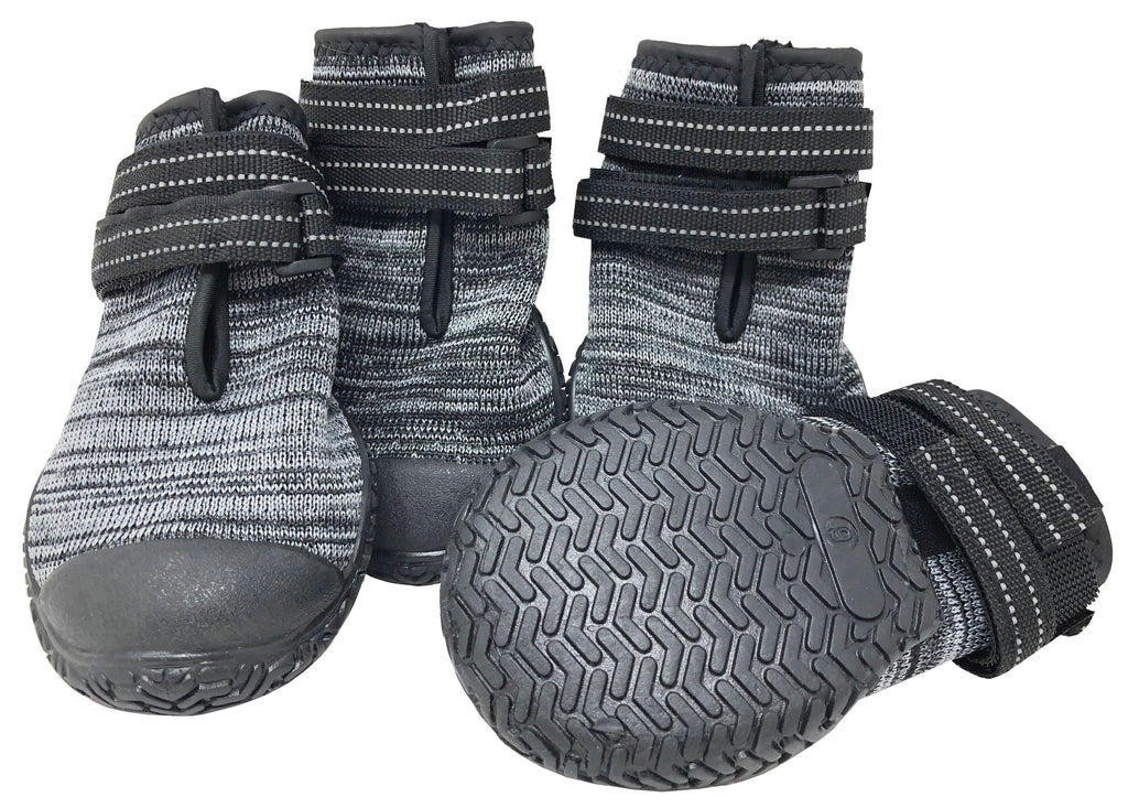Pet Life ® 'Mud-Trax' Ankle Supporting and Performance Dog Shoes Black XX-Small
