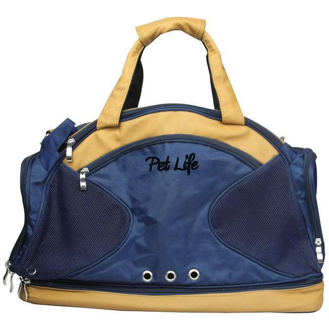 Pet Life ® 'Multi-Storage' Compartment Fashion Designer Travel Pet Dog Carrier Tote Def...