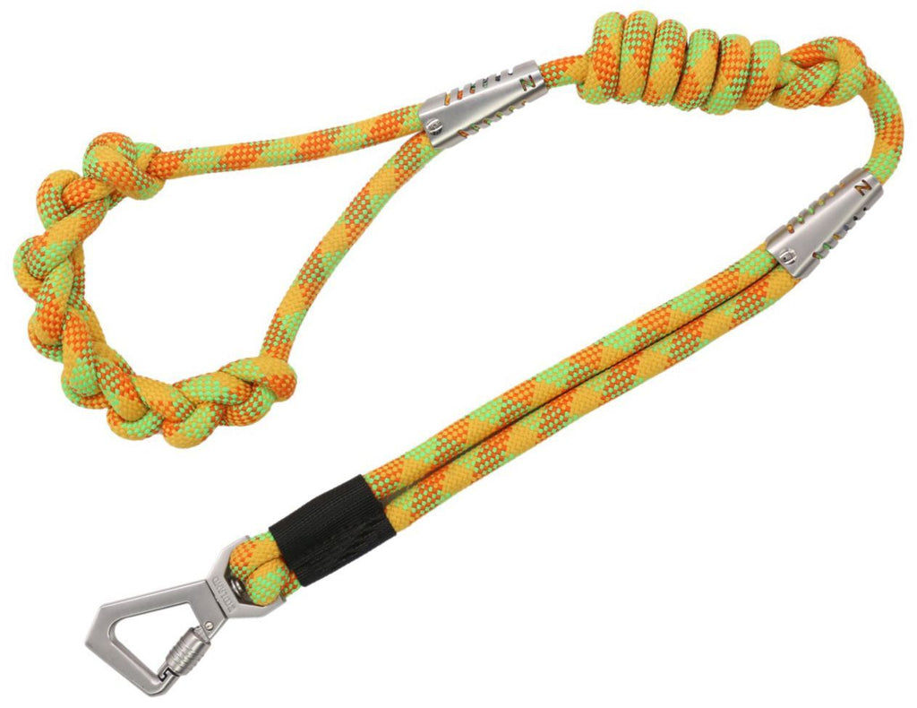 Pet Life ® 'Neo-Craft' Handmade One-Piece Knot-Gripped Training Dog Leash Yellow