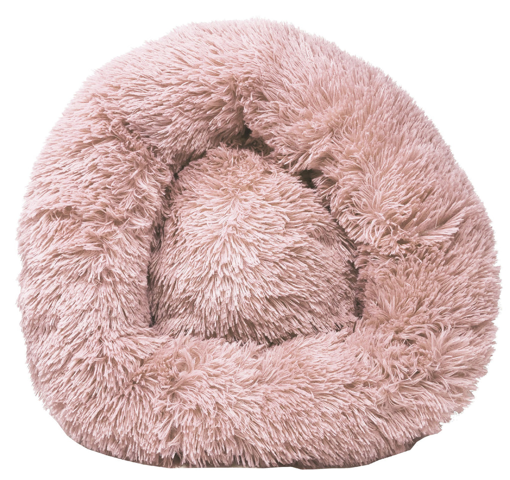 Pet Life ® 'Nestler' High-Grade Plush and Soft Rounded Pet Bed Pink Medium