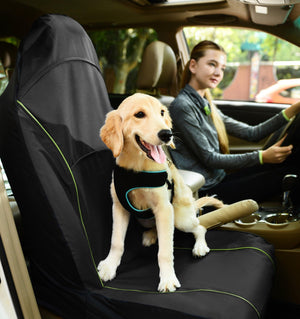 Pet Life ® 'Open Road' Single Seated Safety Child Pet Cat Dog Car Seat Carseat Cover Protector Black